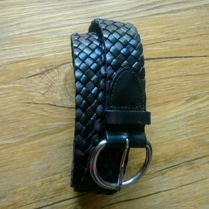 NWT Talbot's Woven Leather Belt Size L